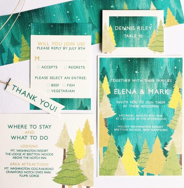 Deep Woods Invitation Suite