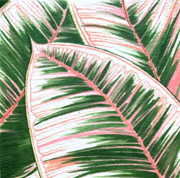 Pink Leaves (Detail)