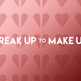 """Break Up To Make Up"" Pitch Deck Cover"