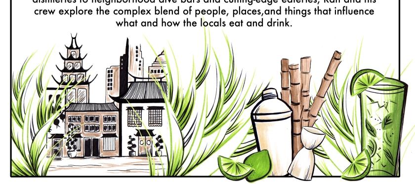 """Cocktail Hour"" Pitch Deck Illustration/Graphic Design"