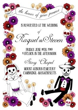 Day of the Dead Custom Wedding Invitation