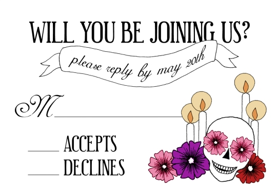 Day of the Dead Reply Card