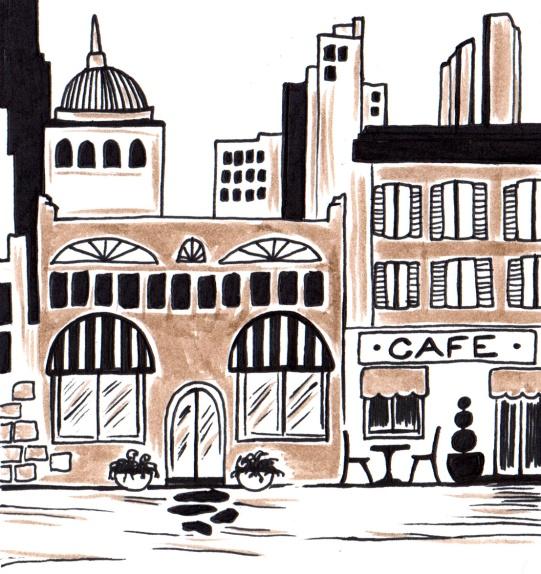 """""""Euro-city"""" Drawing"""