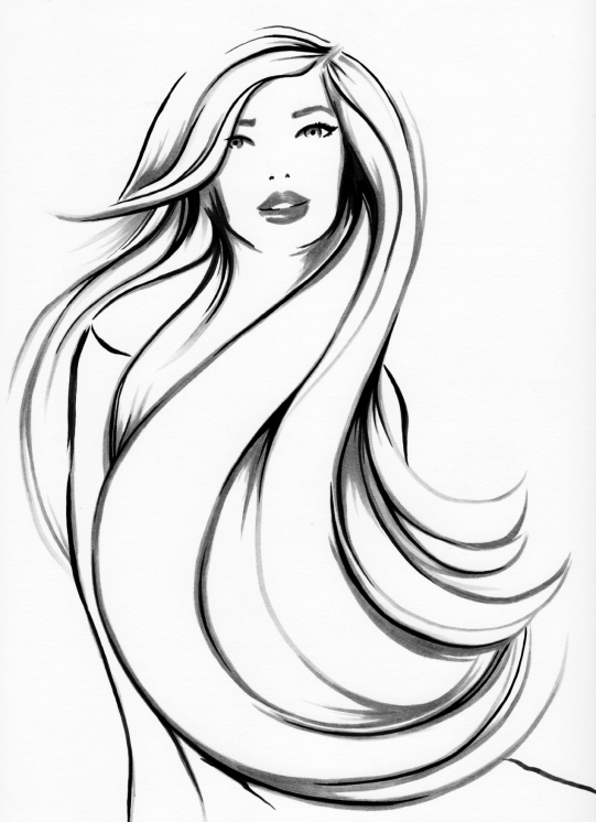 """""""Smooth & Silky"""" Ink Drawing"""