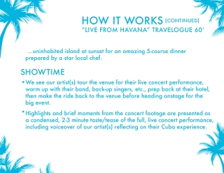 """Live From Havana"" Pitch Deck Page"