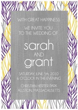 """""""Waving Leaves"""" Custom Wedding Invitation"""