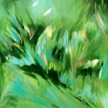 "Dream Corner, 2019. Acrylic on canvas, 8x8"""