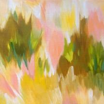 "Fell in Love With a Bush, 2019. Acrylic on canvas, 10x10"""