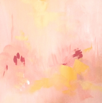 "Smog Signals, 2019. Acrylic on canvas, 8x8"""