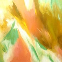 """Sunshowered, 2019. Acrylic on canvas, 10x10"""""""